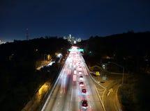 Pasadena Freeway. The Pasadena Freeway southbound toward downtown Los Angeles Royalty Free Stock Photo