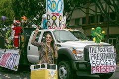 Pasadena Kalifornien - November 20, 2016: Doo Dah Parade Arkivfoto