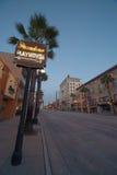 The Pasadena Playhouse neon sign. Neon sign on Colorado Boulevard indicating the Pasadena Playhouse Stock Photography