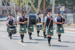 Pasadena Scots Pipes & Drums Band at the Norooz Festival and Per Royalty Free Stock Photography