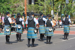 Pasadena Scots Pipes & Drums Band at the Norooz Festival and Per Stock Images
