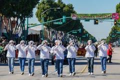 Pasadena-Stadt-College-Ehrenbandparade in Camellia Festival lizenzfreie stockbilder