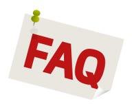 Pasador del FAQ Imagen de archivo libre de regalías