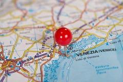 Pasador en el mapa Fotografía de archivo libre de regalías