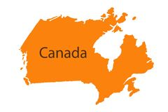 Pasador que marca la dirección de Canadá de la ubicación sucia imagenes de archivo