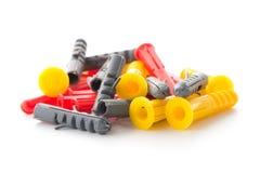 Pasadores plásticos coloridos Fotos de archivo