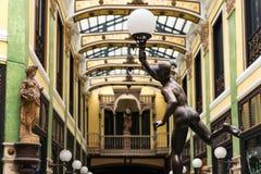 Pasaje Gutierrez and Mercury sculpture in Valladolid Stock Images