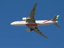Pasajero Boeing 777-21 Foto de archivo libre de regalías