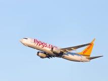 Pasajero Boeing 737 Pegasus Airlines Foto de archivo libre de regalías