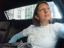 Pasajero de la casilla de taxi Fotografía de archivo libre de regalías