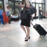 Pasajero en el aeropuerto Foto de archivo libre de regalías