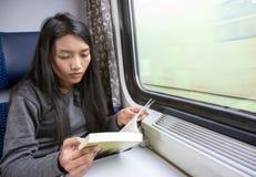 Pasajero en tren Imagen de archivo