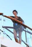 Pasajero feliz del barco de cruceros Imágenes de archivo libres de regalías