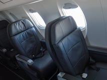 Pasajero Jet Cabin Airliner Seats Foto de archivo libre de regalías