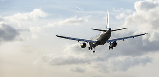 Pasajero Jet Landing Approach Imagen de archivo