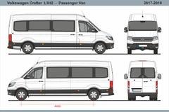 Pasajero Van L3H2 2017-2018 de Volkswagen Crafter ilustración del vector