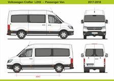 Pasajero Van L2H2 2017-2018 de Volkswagen Crafter libre illustration