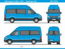 Pasajero Van L2H3 2017-2018 de Volkswagen Crafter stock de ilustración