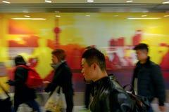 Pasajeros en el metro de Shangai - China Fotografía de archivo libre de regalías