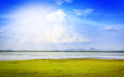 Pasak dam in lopburi central of thailand Stock Photo