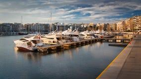 Pasalimani小游艇船坞在雅典。 库存照片
