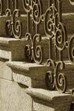 Pasamano del hierro labrado Fotos de archivo libres de regalías