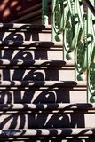 Pasamano y sombra Imagen de archivo libre de regalías