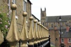 Pasamanos del oro en Durham Foto de archivo libre de regalías