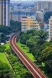 Pasamanos del tren en el área de Kallang Imágenes de archivo libres de regalías