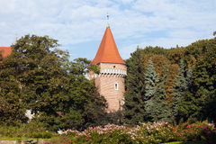 Pasamonikow Tower and Planty Park in Krakow Stock Photos