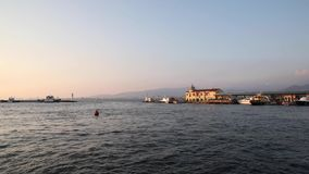 Pasaport District Pier. Video showing the historical pier located at Pasaport District, Izmir, Turkey stock video
