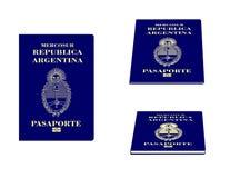 Pasaporte argentino Imagen de archivo libre de regalías