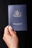 Pasaporte australiano foto de archivo