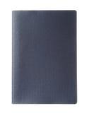 Pasaporte azul en blanco Fotografía de archivo