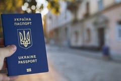 Pasaporte biométrico ucraniano Fotografía de archivo