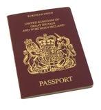 Pasaporte británico Fotografía de archivo
