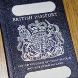 Pasaporte británico viejo Foto de archivo libre de regalías