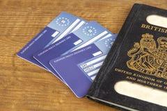 Pasaporte británico viejo imágenes de archivo libres de regalías
