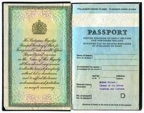 Pasaporte británico viejo Imagen de archivo libre de regalías