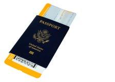 Pasaporte con el documento de embarque amarillo, alterado, ningunas marcas registradas imagen de archivo
