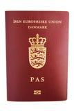 Pasaporte danés Imágenes de archivo libres de regalías