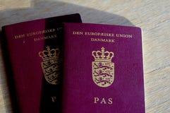 PASAPORTE DANÉS DEL EUROPEO DE PASSPORT_DANISH imagen de archivo libre de regalías