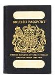 Pasaporte de británicos del viejo estilo Fotos de archivo libres de regalías