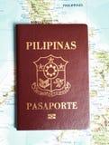 Pasaporte de Filipinas imagenes de archivo