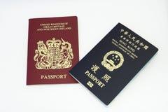 Pasaporte de Hong-Kong Imagen de archivo libre de regalías