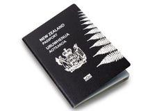 Pasaporte de Nueva Zelanda Fotos de archivo libres de regalías