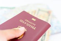 Pasaporte de Tailandia para el turismo imágenes de archivo libres de regalías