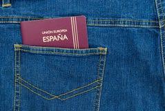 Pasaporte del bolsillo imagen de archivo libre de regalías