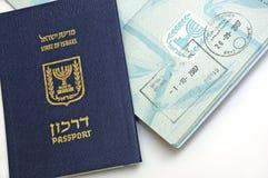 Pasaporte del ciudadano de Israel Foto de archivo libre de regalías