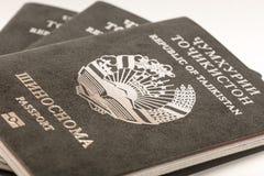 Pasaporte del ciudadano de la República de Tayikistán en viajar al extranjero Foto de archivo